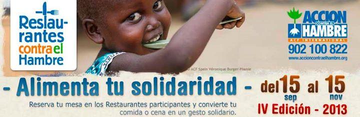 Restaurante El Pescador participa en la IV edición de Restaurantes contra el Hambre