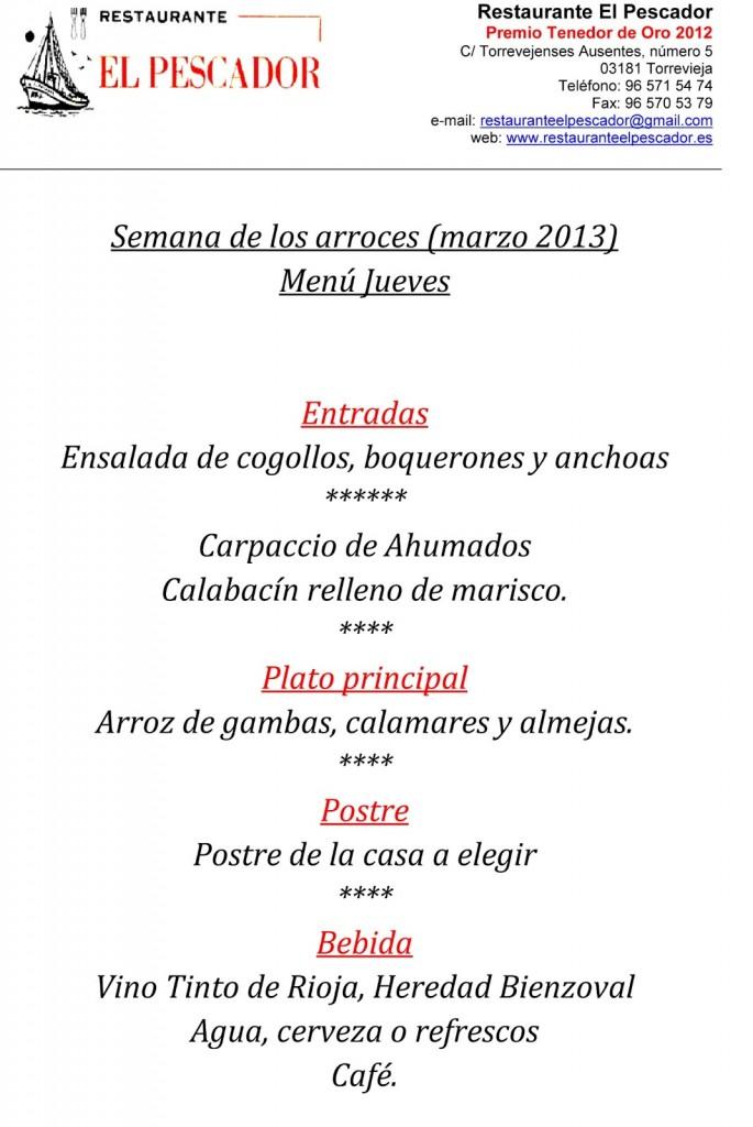 Menu-7-jueves-semana-de-los-arroces-Torrevieja---Restaurante-El-Pescador---marzo-2013-3