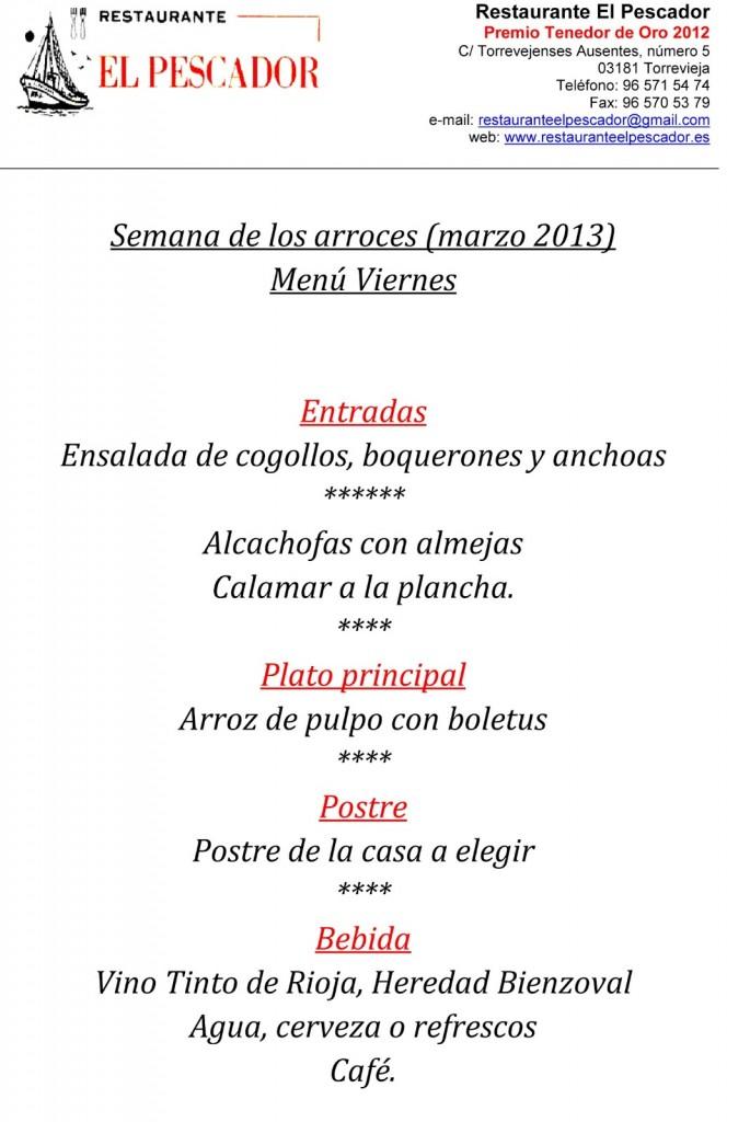 Menu-8-viernes-semana-de-los-arroces-Torrevieja---Restaurante-El-Pescador---marzo-2013-4