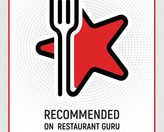 Certificado de excelencia 2019 Restaurant Guru